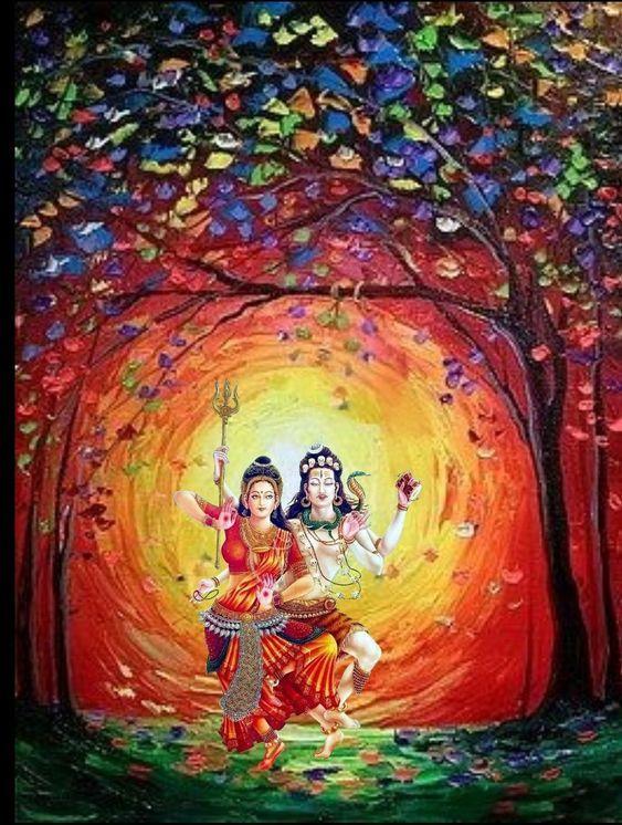 Beautiful Romantic Shiv Parvati Photo