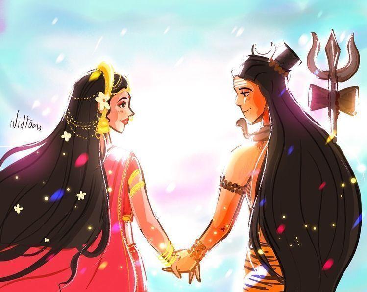 shiv sati love couple hd