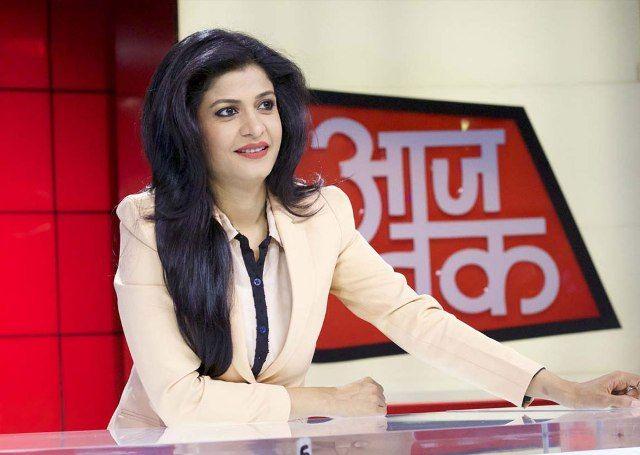 Anjana Om Kashyap On Aaj Tak Net Worth