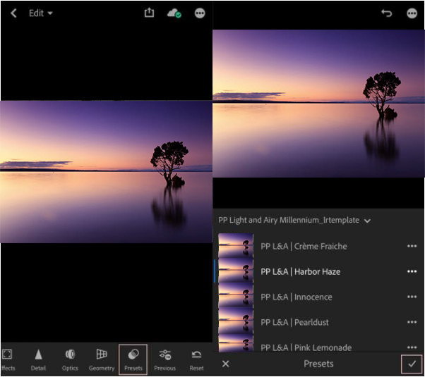 How to install lightroom presets on iPhone( create all)