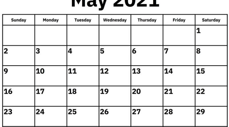May 2021 Printable Calendar Templates
